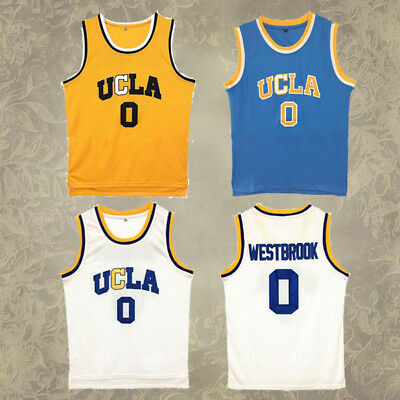 #0 UCLA College Bruins Men Russell Westbrook Basketball Jersey Stitched New
