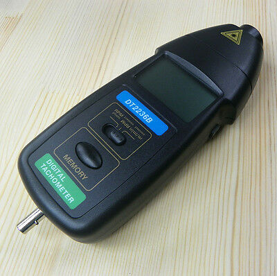 DT2236B 2 in1 Digital Laser Photo Contact Tachometer RPM Speed Tester