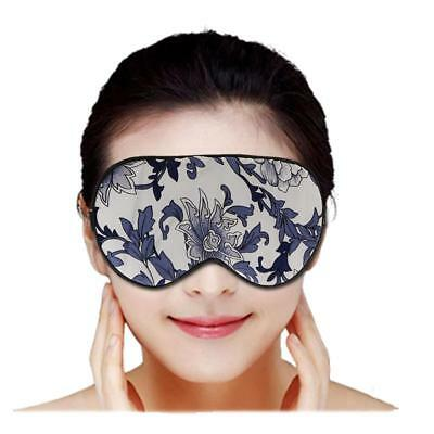 Comfort Soft Silk Sleep Mask Eye Cover Travel Aid Blindfold Shade Floral Pattern