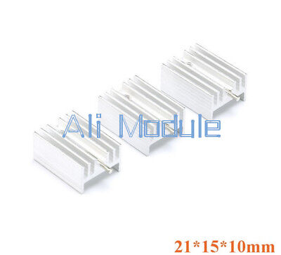 New 20PCS Heat Sink 21x15x10mm Aluminum Heat Sink TO-220 Transistors DIY