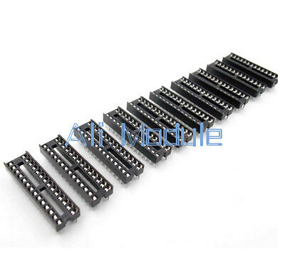 20PCS 28-Pin 28P Narrow DIP IC Sockets Adaptor Solder Type Socket 2.54mm Pitch