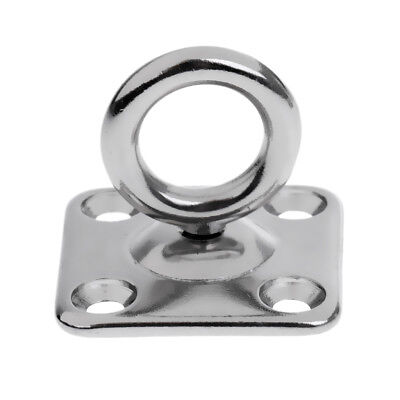 5mm 6mm Square Swivel Pad Eye Hook Marine Grade 316 Stainless Steel Boat Fitting