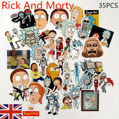 35pcs Rick And Morty Car Sticker Random Character Sticker DIY+ UK FAST Delivery!