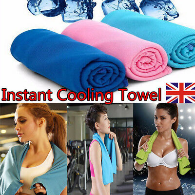 Instant Cooling Towel Sports Gym Yoga OutdoorTowel Drying Sweat Absorb Dry Towel