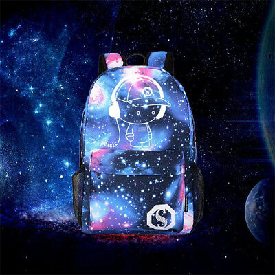 Galaxy School Canvas Bag Teen Pattern Collection Charger Backpack Girls Kids