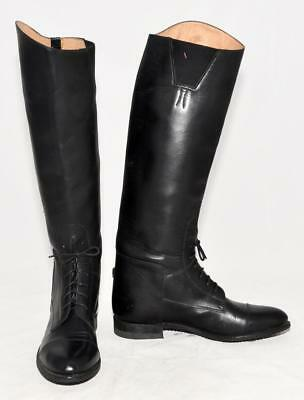 EFFINGHAM Black Leather Equestrian Riding Boots Style 200M USA Made Size 10½ SC
