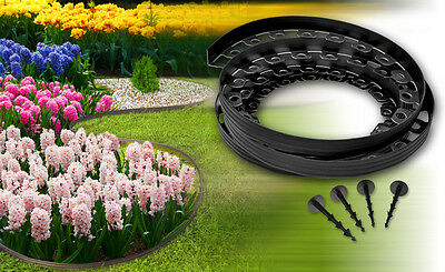 Plastic garden edging,New edging 20meters for borders,paths,lawn,driveway+60pegs