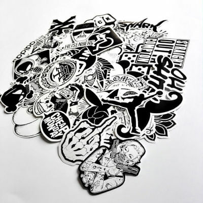 60pcs Skateboard Vinyl Stickers lot Skate Graffiti Laptop Luggage Car Decal UU