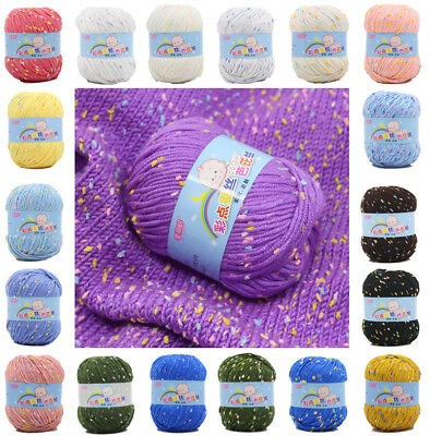 Sale New ball 50g Soft Warm Color point silk protein Cashmere HAND KNITTING YARN