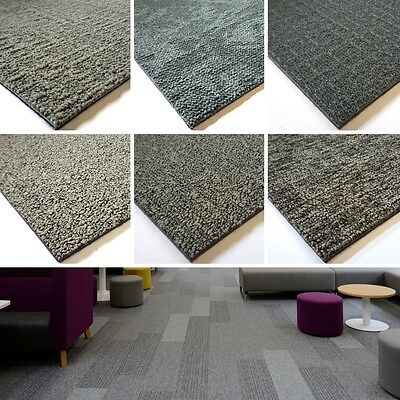 Desso CARPET TILES Contract Grey Plain Pattern SOUNDMASTER Backing Hard Wearing