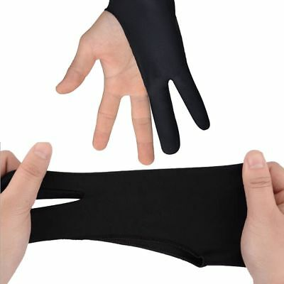 Black Two Finger Anti-fouling Glove For Artist Drawing/Painting/Graphic Pad Pop