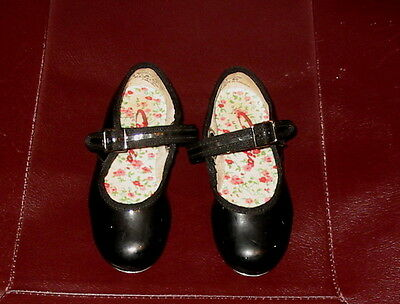 Little Girl's Size 8 1/2 M Black Patent CAPEZIO TAP SHOES Mary Jane Style vgc