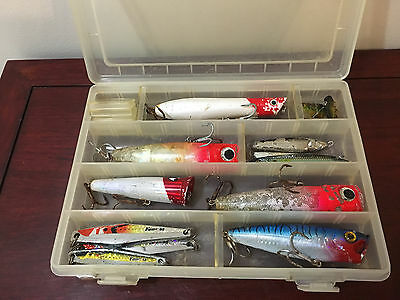 Fishing lures new & used box of assorted