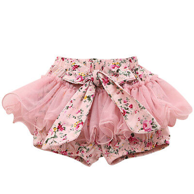 Kids Baby Girl Toddler Ruffle Dress Bloomers Pants Nappy Cover Petti Skirt 0-2Y