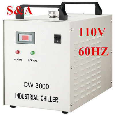 110V S&A CW-3000DG Thermolysis Industrial Water Chiller for a 80W CO2 Laser Tube