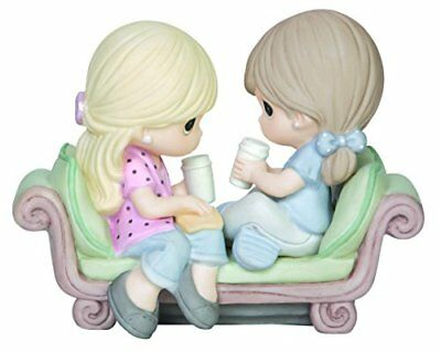 Precious Moments  Our Friendship Is The Perfect Blend Bisque Porcelain Figuri...