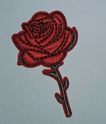 RED  ROSE EMBROIDERED   iron on patch beauty and the beast inspired