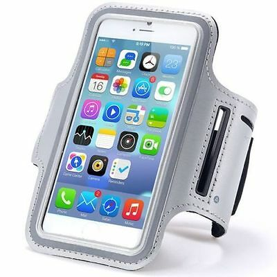 For Apple iPhone 7 Plus Jogging Running Fitness Arm band Silver Case Holder
