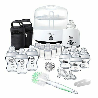 Tommee Tippee Closer to Nature Complete Feeding Set in White Brand New