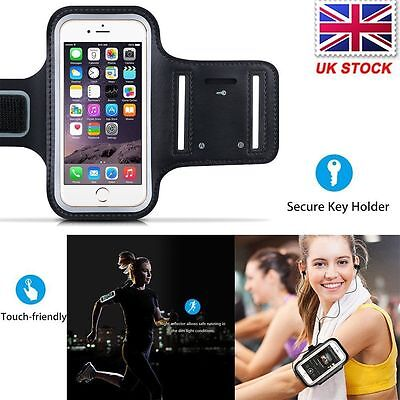 For Apple iPhone 7 Plus Jogging Running Fitness Arm band Black Case Holder