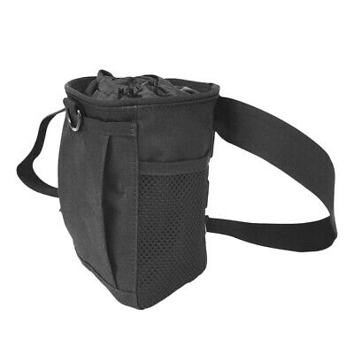 Pro Belt Magnesium Powder Chalk Bag for Rock Climbing Bouldering Gym - Black