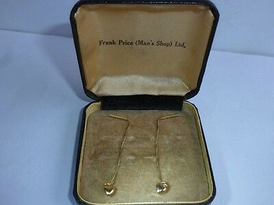 Beautiful 18ct / 750 yellow gold earrings, in box;