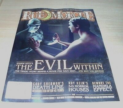 Rue Morgue magazine JUL/AUG 2017 Andrew Getty's The Evil Within, Mandela Effect