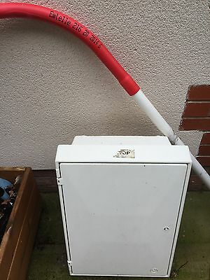 electric externel meter box and hockey stick