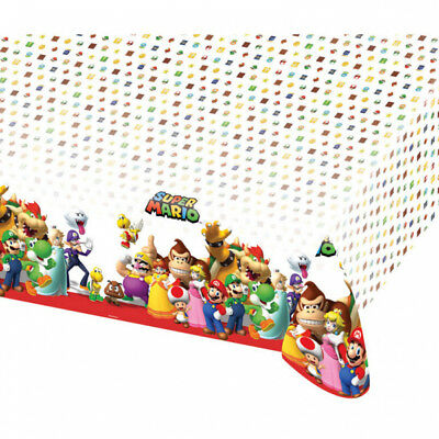 super mario party teller eckig 23 x 23 cm kindergeburtstag tisch deko dekoration eur 2 80. Black Bedroom Furniture Sets. Home Design Ideas
