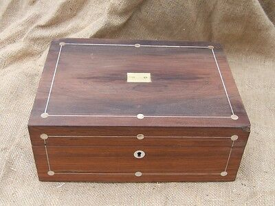 William IV rosewood sewing box for restoration