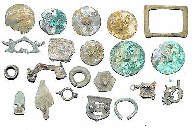 Lot Of 20 Roman / Medieval Bronze Artifacts For Cleaning -  Stunning - K922
