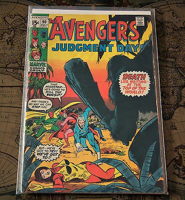 The Avengers #90 Judgement Day Marvel Comics Group 1971 Bronze Age Comic Fine F+