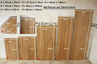 Oak Timber Offcuts Work Tops | Solid Oak Planks | Oak Boards for Shelving
