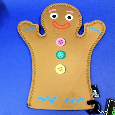 New - Gingerbread Man - Neoprean Oven Mitt Heat Glove (to 260C) Kitchenalia