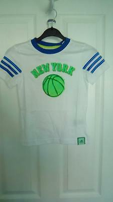 Bnwt Boys Adidas White New York Basketball T Shirt
