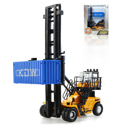 KDW 1/50 Scale Diecast Empty Container Stacker Forklift Truck Model Toys