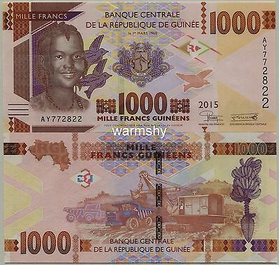 Guinea Guinee 2015 Banknotes 1000 France UNC
