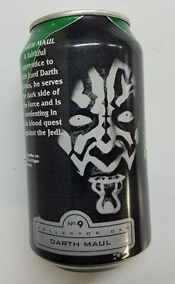 Mountain Dew Empty 12oz. Can - Star Wars Episode 1 Series No. 9 Darth Maul