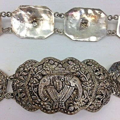 Antique Chinese Silver Belt With Chinese Zodiac Calendar
