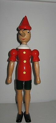 """NWT C2 Rainoldi 1981 jointed hand Painted Wooden Pinocchio Figure Italy 14"""""""