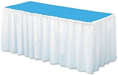 ccTable Set Linen Like Soft Non Woven Polyester Table Skirting White (29 x 14)
