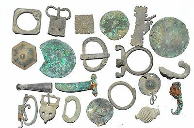 Lot Of 20 Roman / Medieval Bronze Artifacts For Cleaning -  Stunning - K959