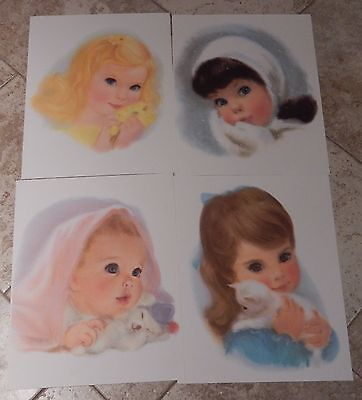 *4* Frances Hook Northern Tissue Vtg Prints. American Beauties.195o's-1960's
