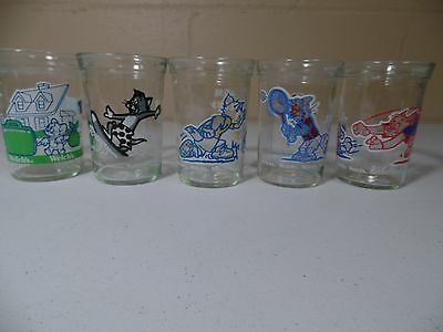 Welch's Jelly Glasses Tom And Jerry Set of 5 Glasses