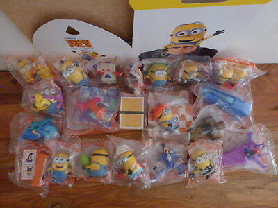 McDonalds Despicable Me 3 TOYS *** FULL SET of 21 toys including BONUS items