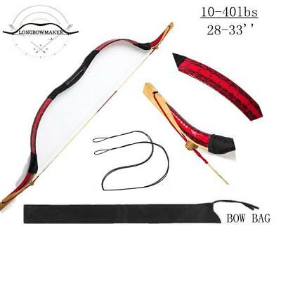 10-40lb Handmade Youth Mini Bow Red Snakeskin Archery Practice Monglian Kids Bow