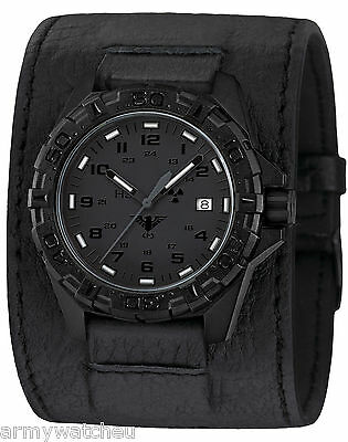 KHS Tactical Watches H3 XTAC Leather Power-Band Swiss Movement KHS.REXT.LK