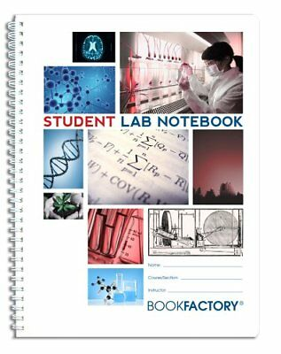 "BookFactory Student Lab Notebook / Laboratory Notebook - 50 Pages 8.5"" X 11"" ..."