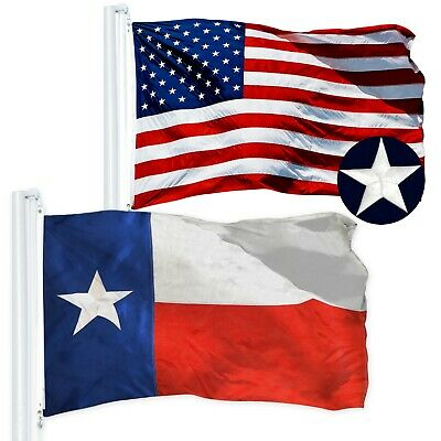 Wholesale LOT | USA 3x5 ft Embroidered & Texas State 3x5 ft Embroidered Flag