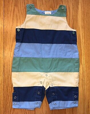 Baby Boys Gap One Piece Striped Sleeveless Outfit Size 0-3 Months Cute!
